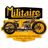 Militaire Motorcycle Metal Sign