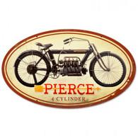 Pierce 4-Cylinder Metal Sign