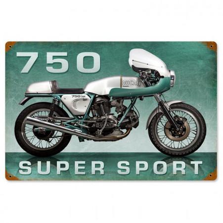 Ducati 750 Super Sport Metal Sign