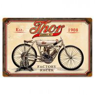 Thor Factory Racer Metal Sign