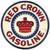 Red Crown Gasoline Round Metal Sign