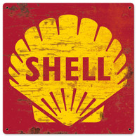 Shell 1961 Logo Grunge Metal Sign