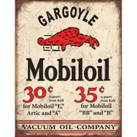 Gargoyle Mobiloil  Vacuum Oil Company Metal Sign