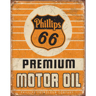 Phillips 66 Premium Motor Oil Metal Sign