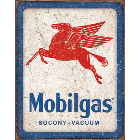 Mobilgas Pegasus Metal Sign