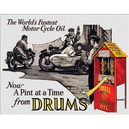 Shell Motor Oil - World's Fastest Motorcycle Oil Metal Sign