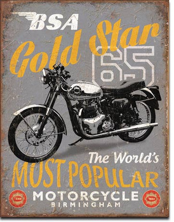 BSA Gold Star 65 Metal Sign