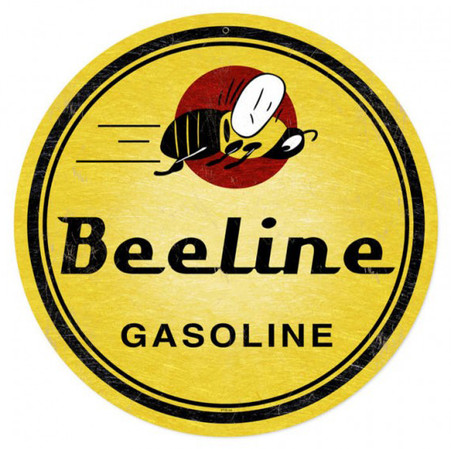 Beeline Gasoline Round Metal Sign