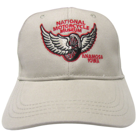 "National Motorcycle Museum ""Winged Wheel"" Khaki Cap"