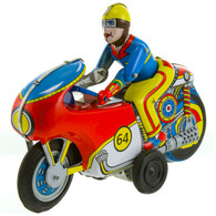 Winner Friction Powered Motorcycle Tin Toy