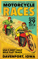 26th Annual 2014 Davenport Motorcycle Races Poster