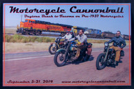 2014 Motorcycle Cannonball Poster