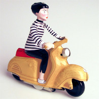Wind Up Tin Scooter Girl