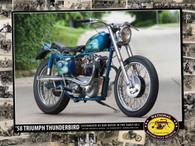 1958 Von Dutch Triumph Thunderbird Poster