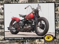 1937 Harley-Davidson UL Poster
