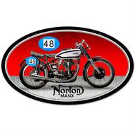 Norton 'Manx' Motorcycle Metal Sign