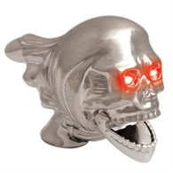 Flying Skull Fender Ornament - Chrome Finish