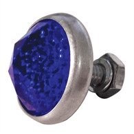 Glass Antique Style Gem-Cut Jewel Reflector - Blue