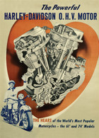 The Powerful Harley-Davidson O.H.V. Motor Poster