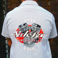Sick Boy Pinstripe Work Shirt