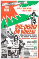 1968 'She-Devils On Wheels' Movie Poster