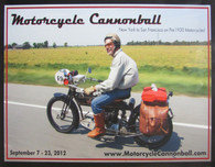 2012 Motorcycle Cannonball Poster