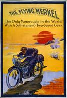 Flying Merkel Motorcycle Desert Poster