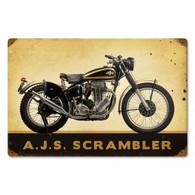 AJS 'Scrambler' Motorcycle Metal Sign