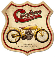 'Cyclone' Motorcycle Metal Sign