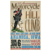 50th Anniversary June 1999 Motorcycle Hill Climb Poster