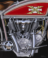 1916 Excelsior Auto-Cycle Poster