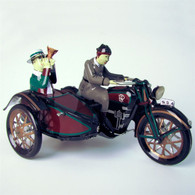 Wind Up Parade Tin Motorcycle with Sidecar