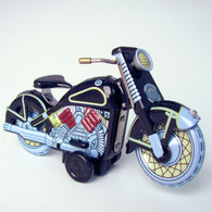 Wind Up Classic Tin Harley Motorcycle