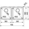 Franke Largo LAX120 36-36 Stainless Steel Kitchen Sink