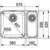 Franke Largo LAX160 36-16 Stainless Steel Kitchen Sink