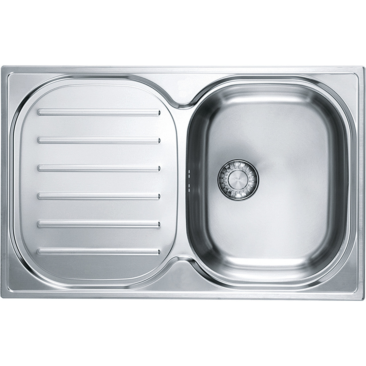 franke compact plus cpx p611-780 stainless steel kitchen sink - sinks
