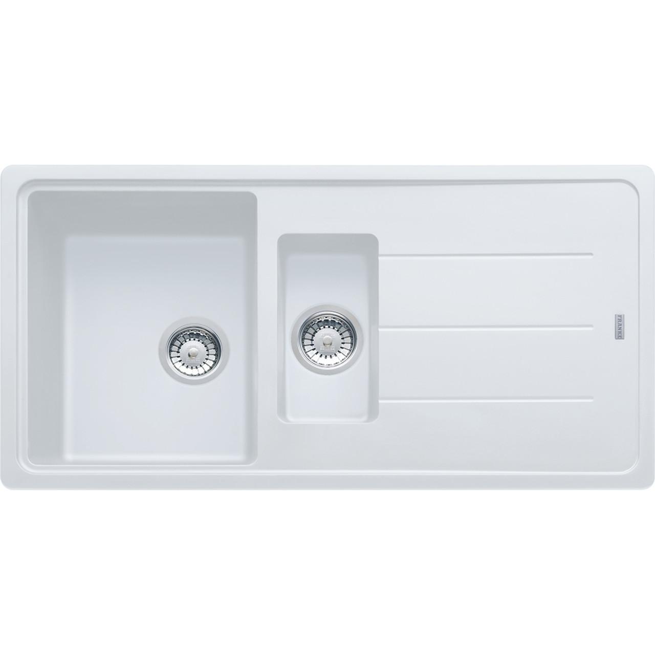 Awesome Franke Basis BFG651 Fragranite Polar White Kitchen Sink ...