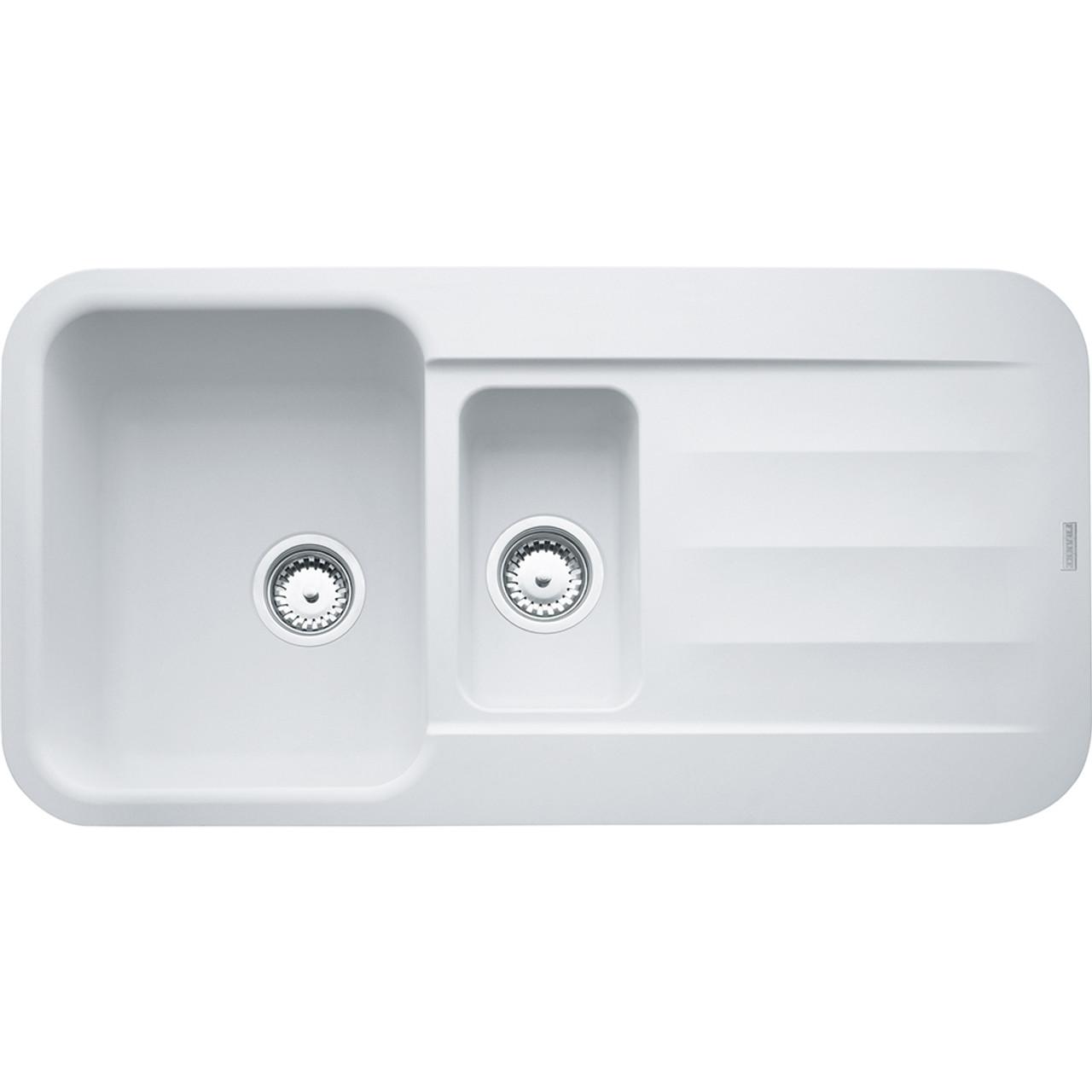 ... Franke Pebel PBG651 Fragranite Polar White Kitchen Sink ...