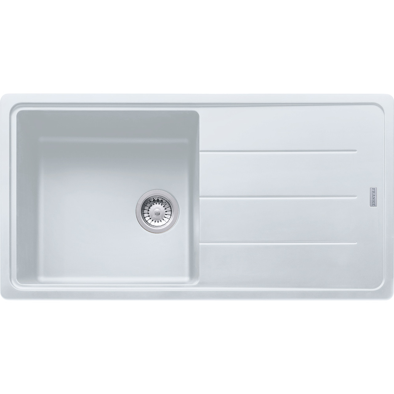 Franke Basis BFG611 970 Fragranite Polar White Kitchen Sink ...