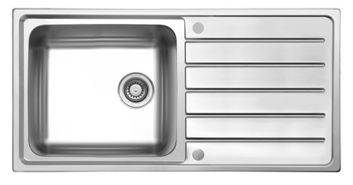 Brass & Traditional Worcester Stainless Steel Single Bowl Inset Sink