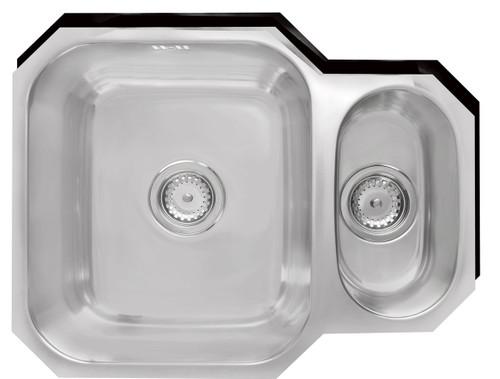 Brass & Traditional Marlborough Stainless Steel One + Half Bowl Undermount Sink