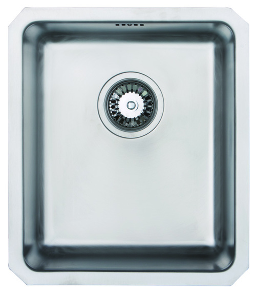 Brass & Traditional Truro 340 Stainless Steel Single Bowl Undermount Sink