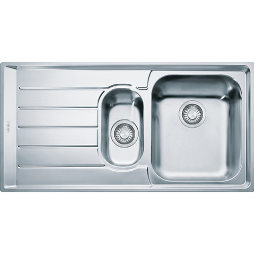 Franke Neptune Sink 1.5 Bowls Single Drainer Boxed complete with wastes 127.0059.