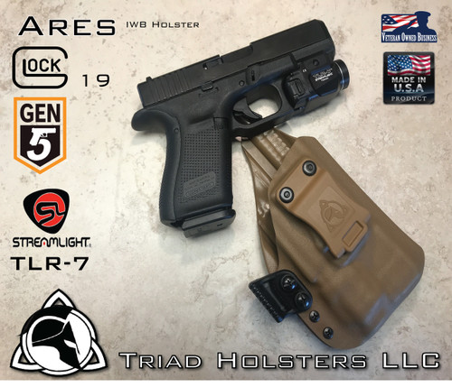 ARES Holster Shown For The Glock 19 Gen 5 Equipped With The Streamlight  TLR 7