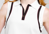 Contrast Trim Sleeveless Polo EP-5549AD Image 4