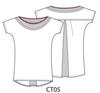 Kimono Sleeve Top in Magenta LIL-CT05 Image 4