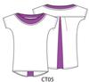 Kimono Sleeve Top in Magenta LIL-CT05 Image 5
