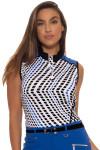 Golf Outfit | GGblue Black Diamond Golf Sleeveless : E889
