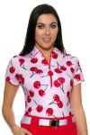 Jofit Women's Barossa Sport Printed Zip Golf Polo Shirt JF-GT181-701 Image 5