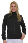 Greg Norman Women's Essentials Black Heathered Golf Jacket   GN-G2S7J022